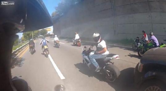 Rider Cuts Off Lien